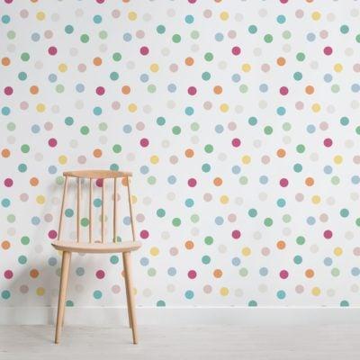 Rainbow Polka Dot Wallpaper Mural