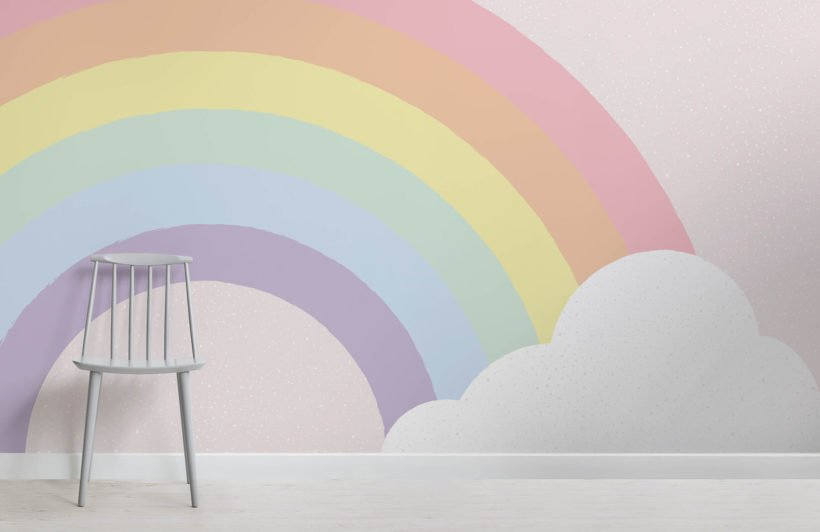 kids-pastel-rainbow-wallpaper-mural