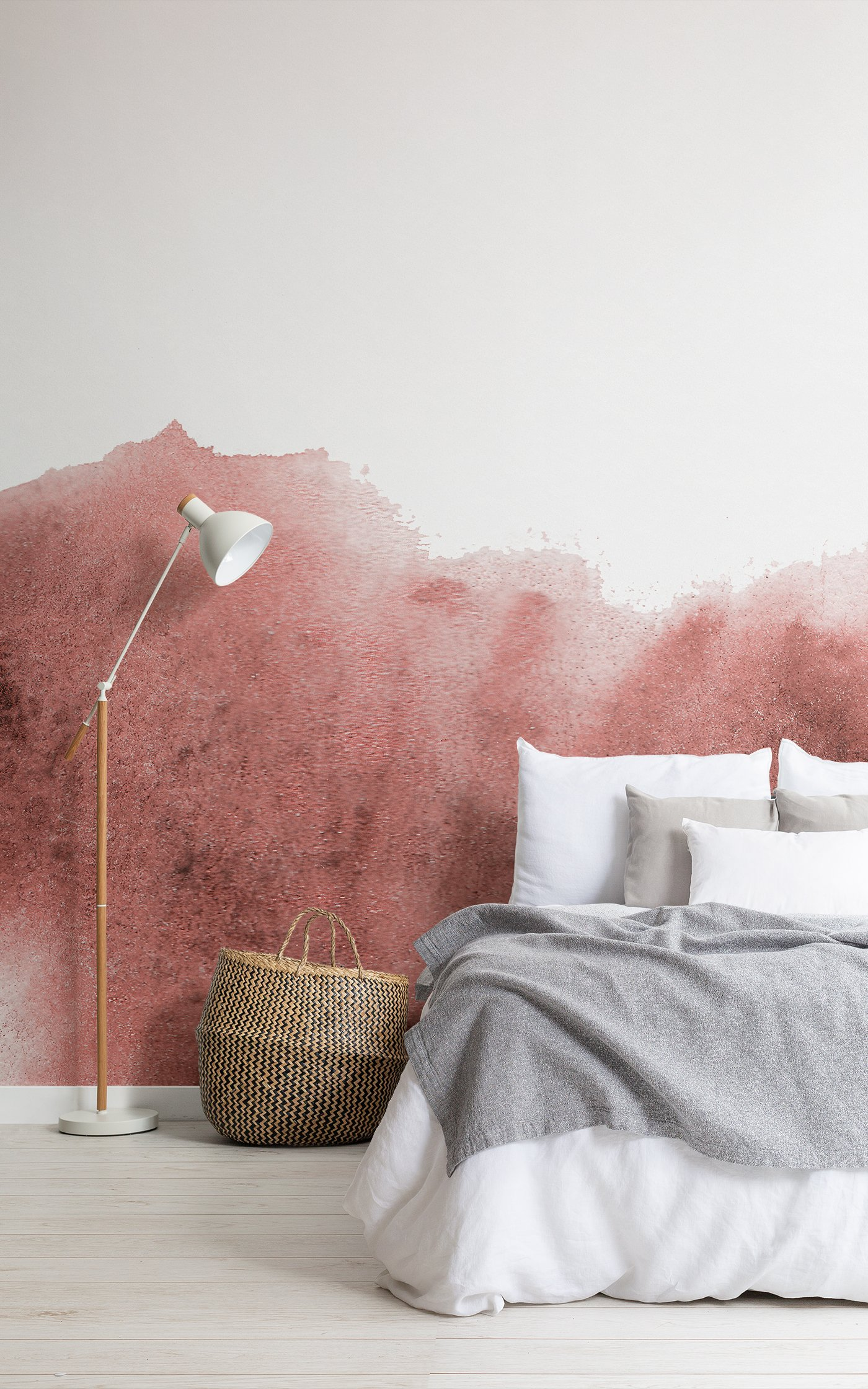 red grunge paint watercolour wallpaper