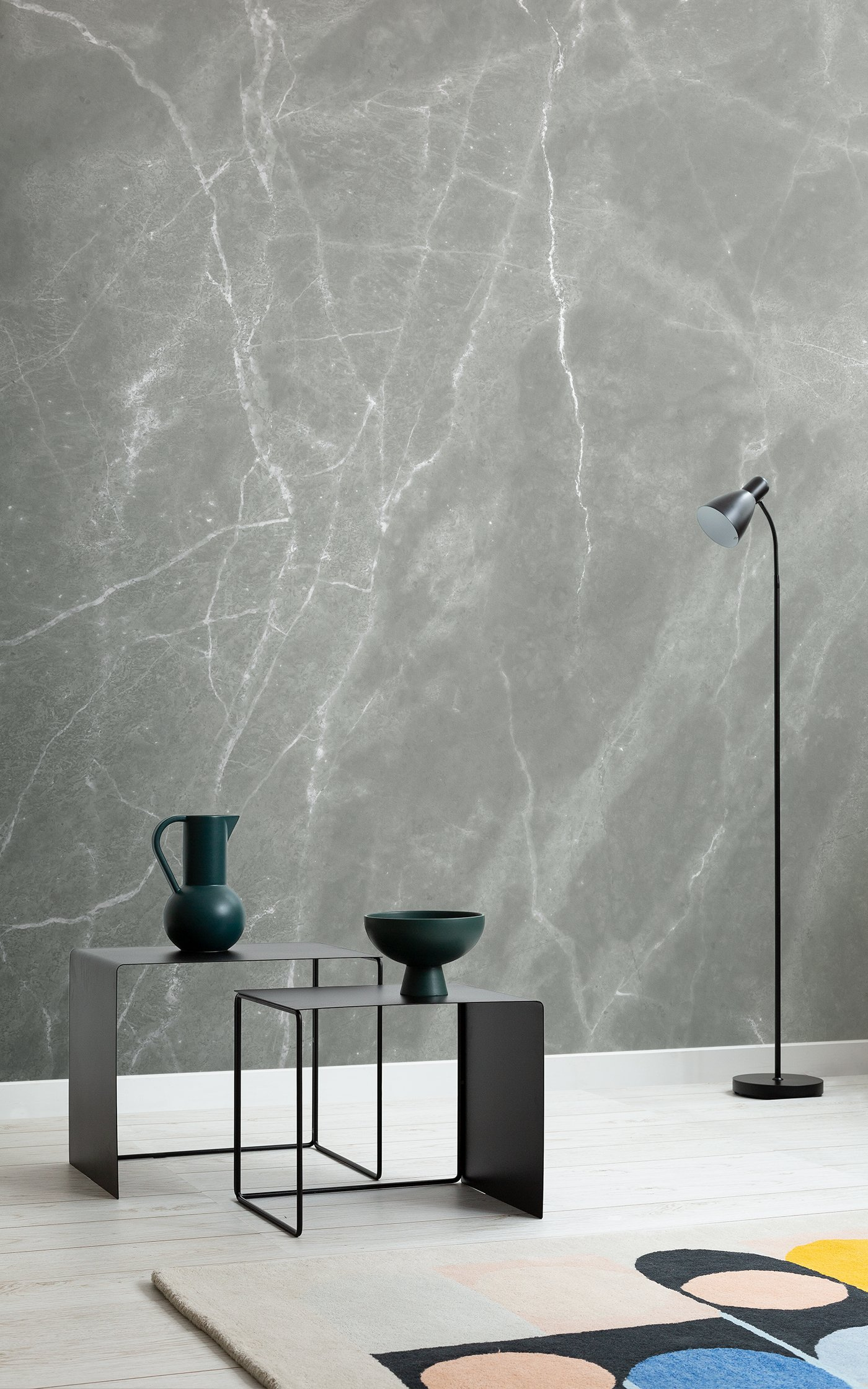sage marble effect wallpaper
