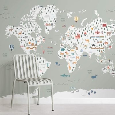 Sage Ultimate Kids Map Wallpaper Mural