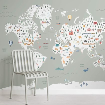 Sage Ultimate Kids Map Wallpaper Mural Image
