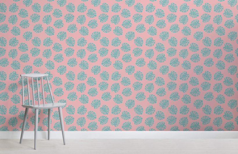Small Tropical Leaf Wallpaper Mural