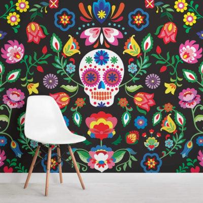 Sugar Skull - Dia de Muertos - Wall mural