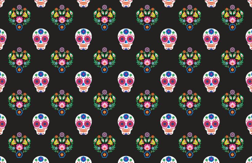 Sugar Skull Repeat - Dia de Muertos