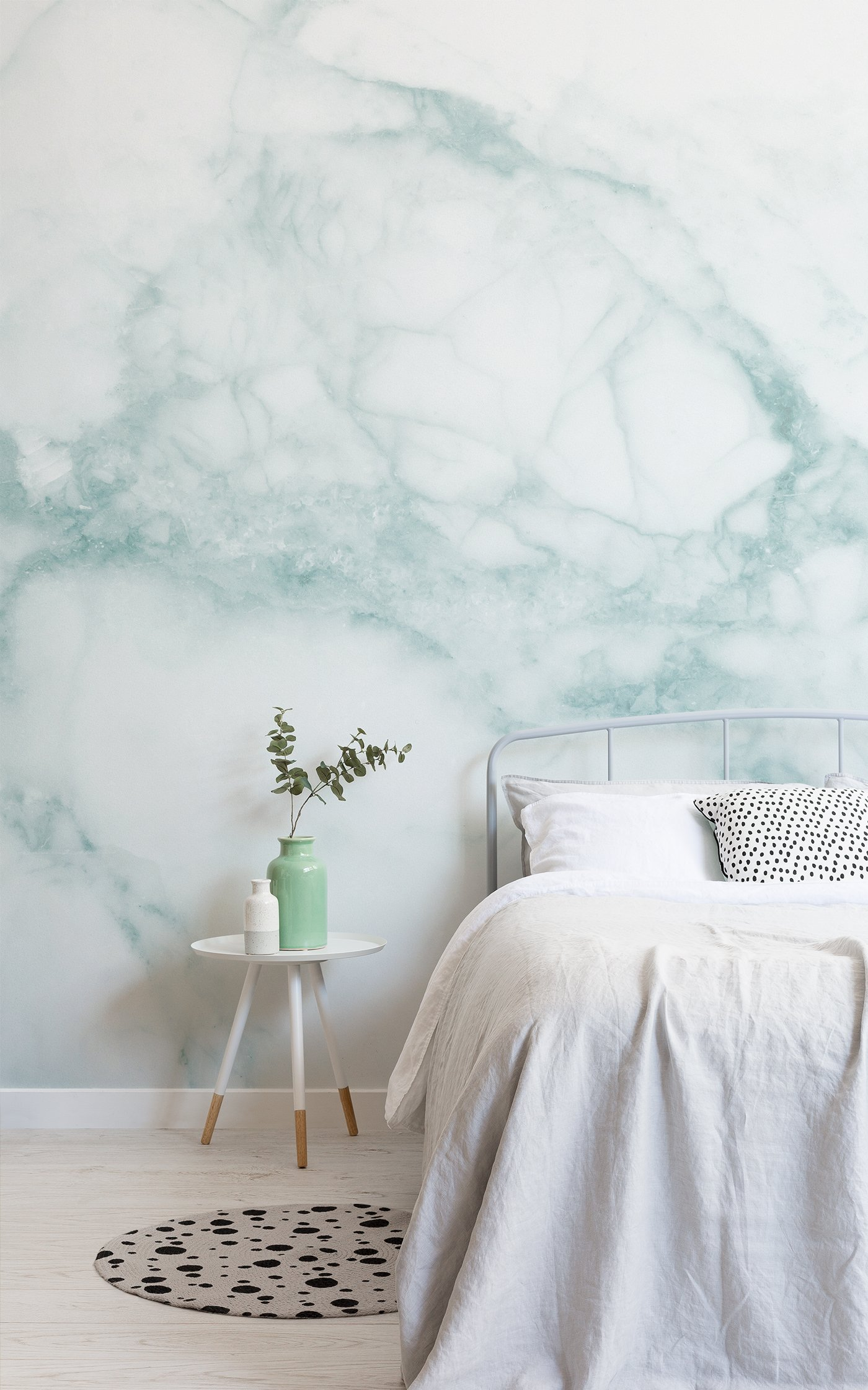 white and green marble wallpaper