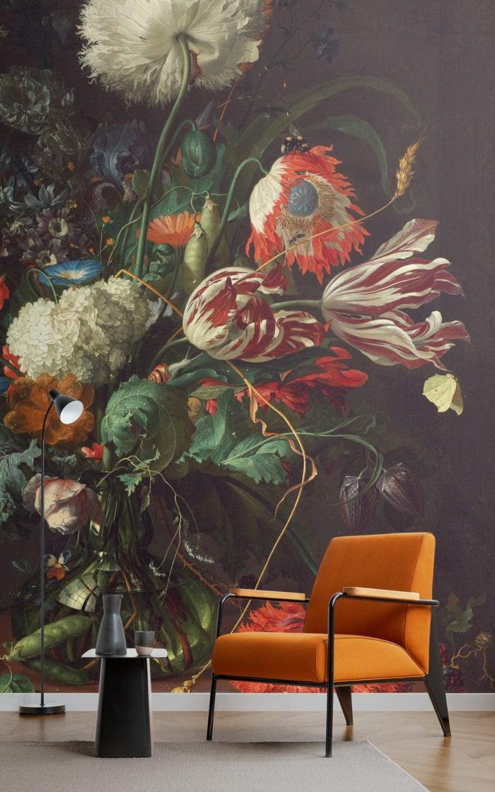 Vase of Flowers wallpaper mural