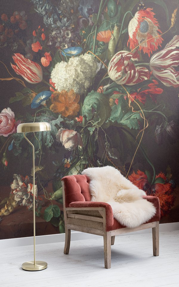 Vase of Flowers' by de Heem Wallpaper Mural Image