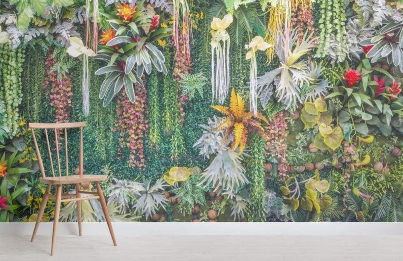 Vertical Garden Floral Wallpaper Mural