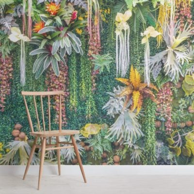 Vertical Garden Floral Wallpaper Mural