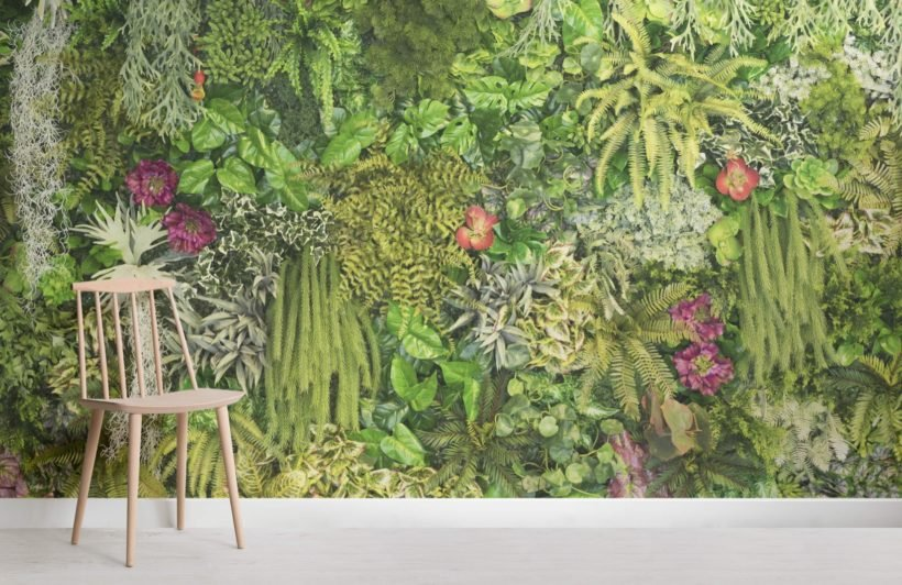 Climbing Plant Floral Wallpaper Mural