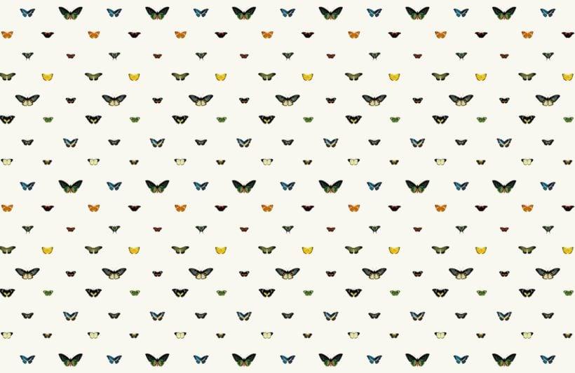 Vintage Monarch Butterfly Botanical Wallpaper Mural