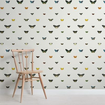 Vintage Monarch Butterfly Botanical Wallpaper Mural
