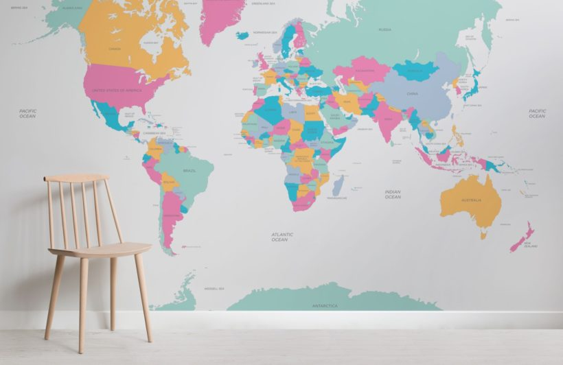 Voyager Kids Map Wallpaper Mural