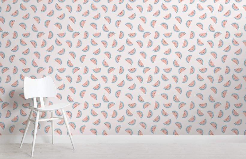 Watermelon pattern wallpaper mural
