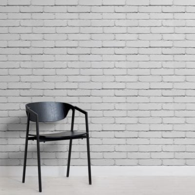 White Painted Brick Wallpaper Mural
