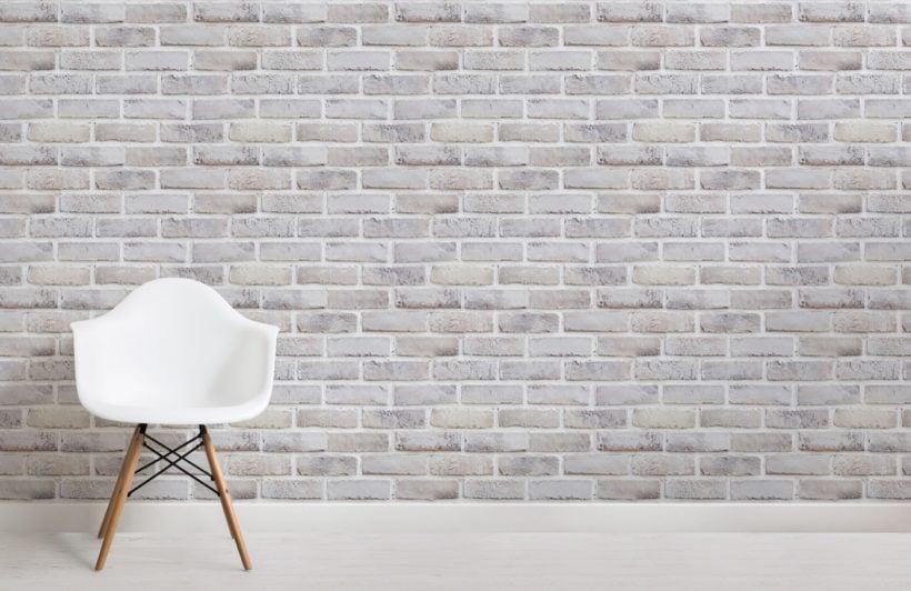 Whitewash Brick Effect Wallpaper Mural