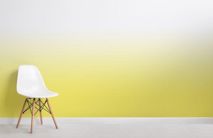 Yellow Bright Colour Ombre Wallpaper Mural