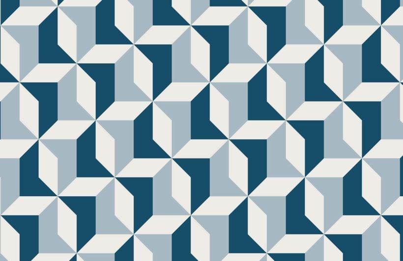 abstract-blue-geometric-design-plain-wall-murals