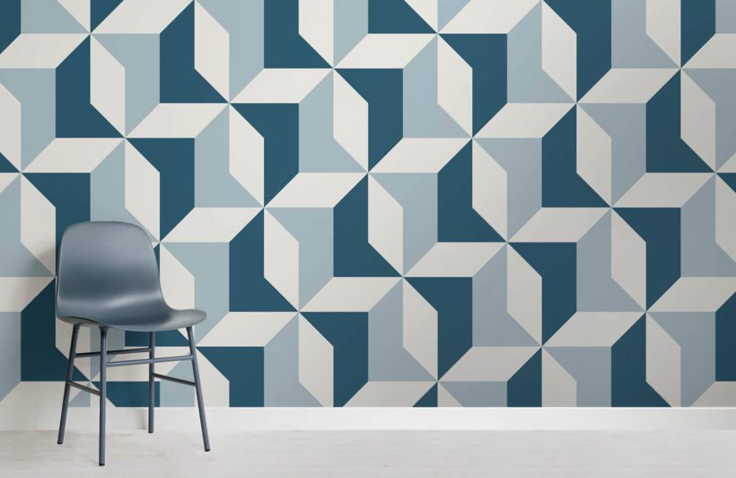 abstract-blue-geometric-design-room-wall-murals