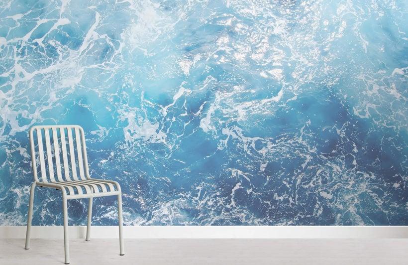 adriatic-photographic waves-room-wall mural-kJ