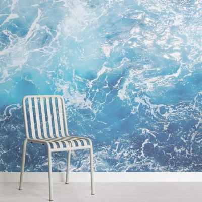 adriatic-photographic waves-square-wall mural-kJ
