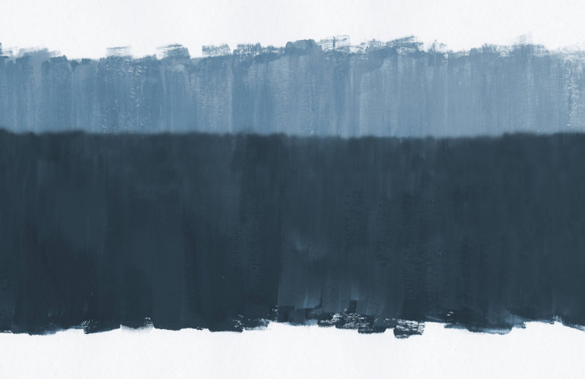 altitude blue-abstract expressionist-plain-wall mural-kj