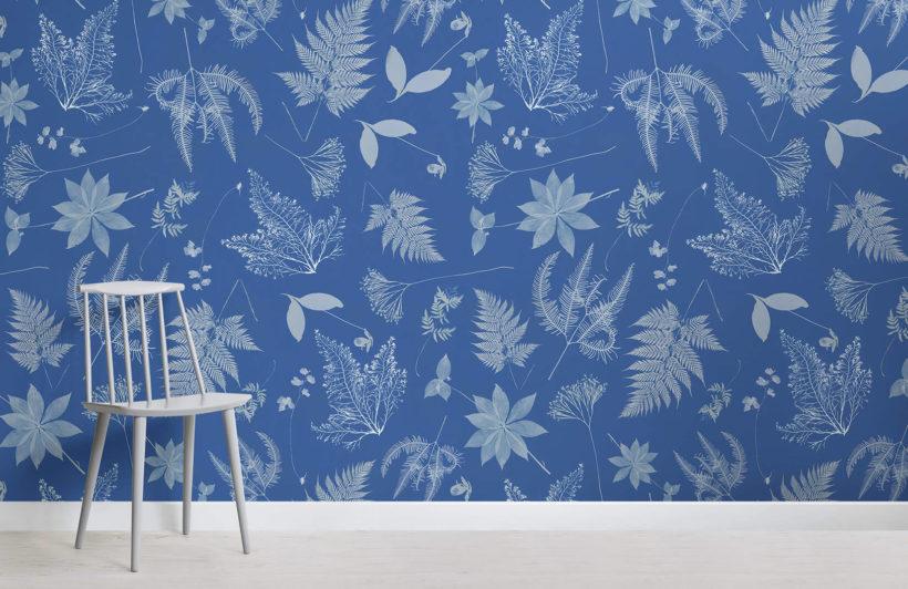 anna atkins the botanist room wall mural