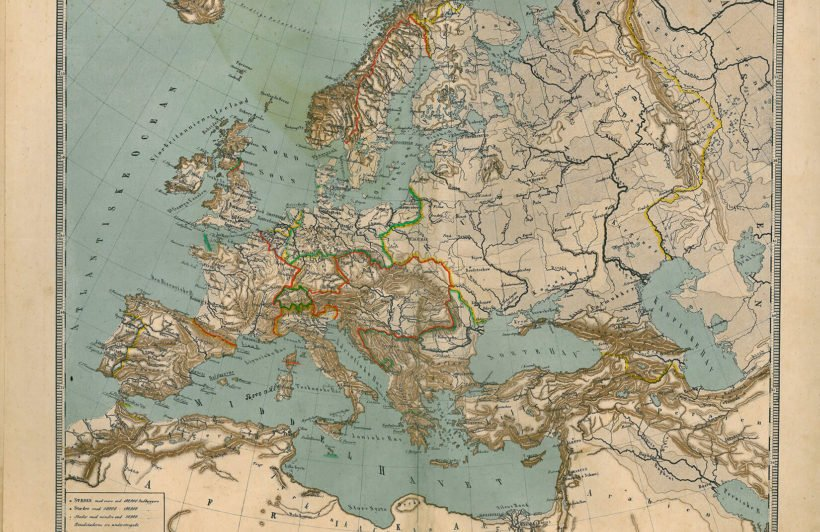 antiqued-europe-map-plain-wall-murals