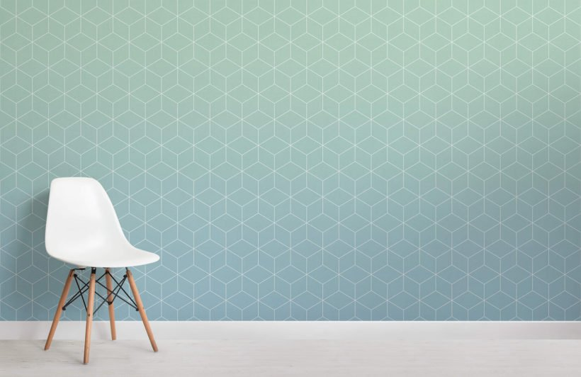 aquamarine-patterned-ombre-wall-mural-room