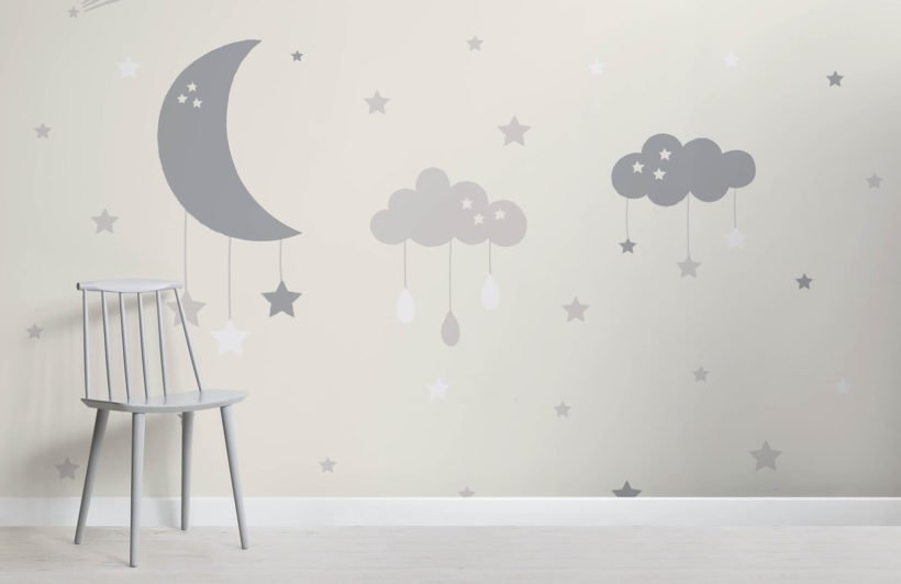 baby-clouds-and-moon-nursery-room-wall-mural