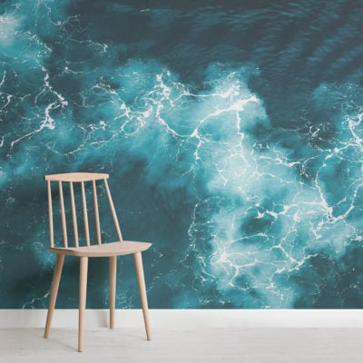 baltic-photographic waves-square-wall mural-kj