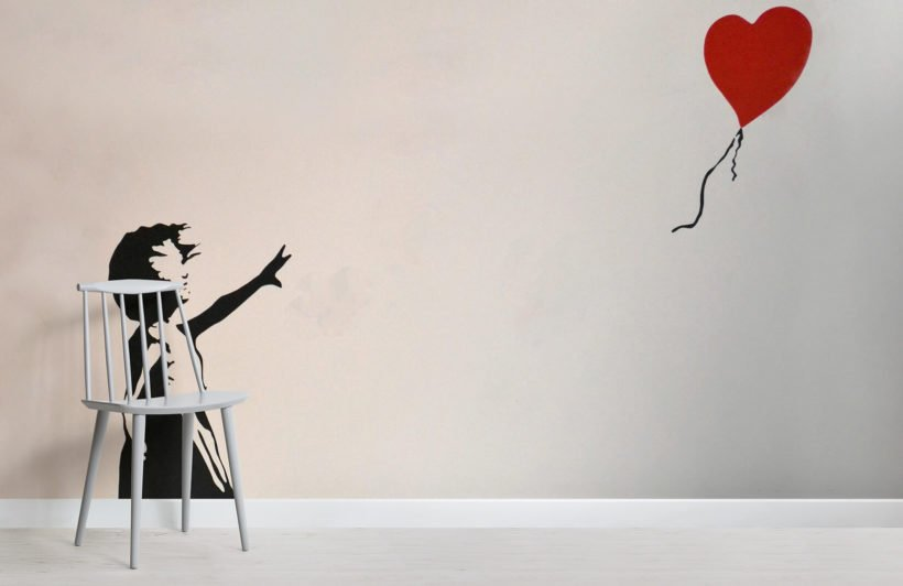 banksy-balloon-girl-graffiti-room-wall-murals