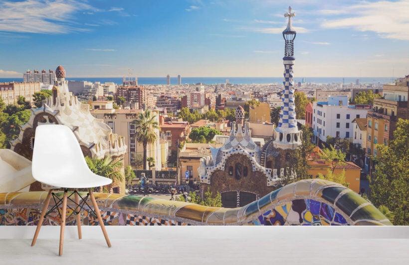 barcelona-park-guell-city-room-wall-murals