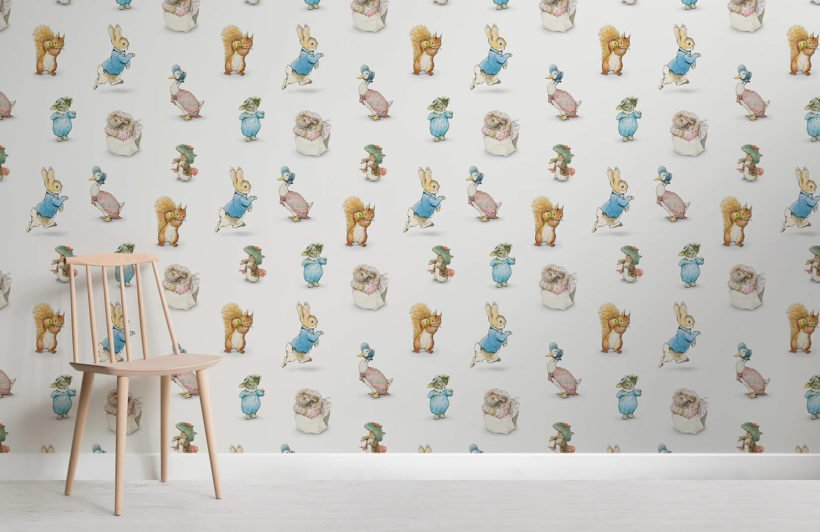 beatrix potter room wall mural
