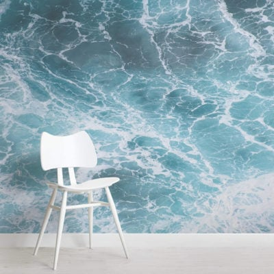 bering-photographic waves-square-wall mural-kj