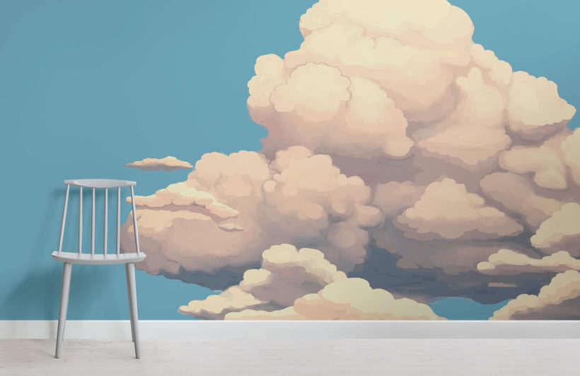 big-clouds-childrens-room-wall-murals