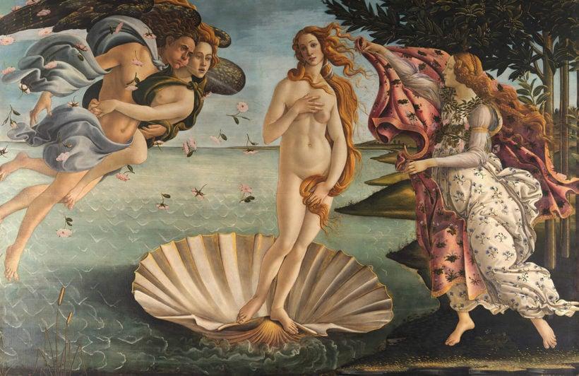 birth-of-venus-botticelli-art-plain-wall-mural