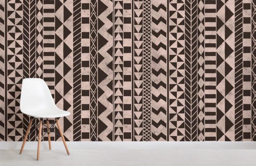 black african inspired tribal print wallpaper mural