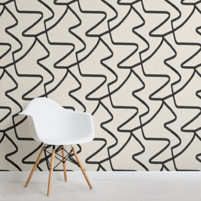 black-and-neutral-abstract-lines-repeat-pattern-wallpaper