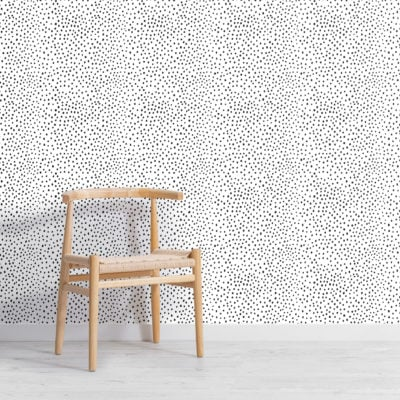black and white dalmation dots repeat pattern wallpaper