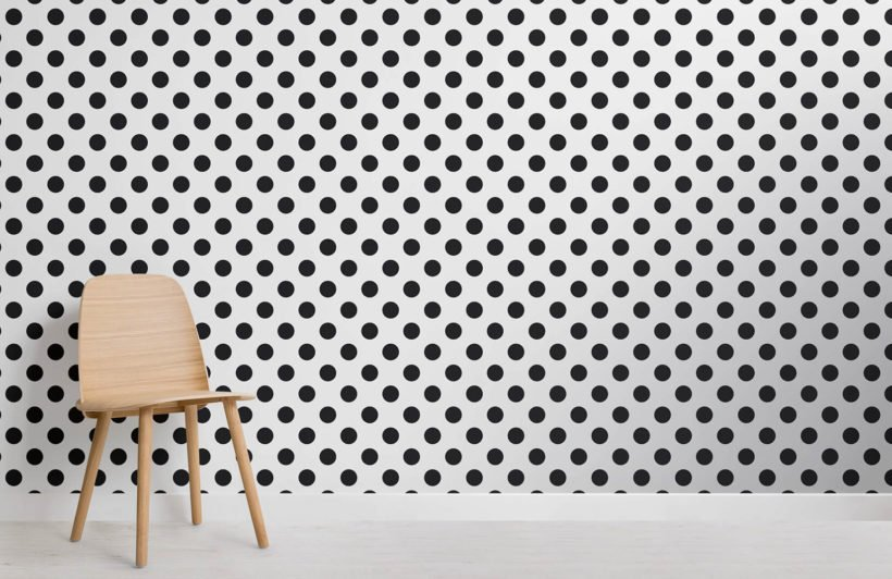 black-polka-dots-design-room-wall-murals
