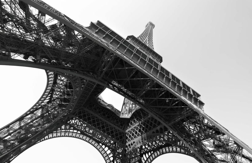 black-white-eiffel-tower-city-plain-wall-murals