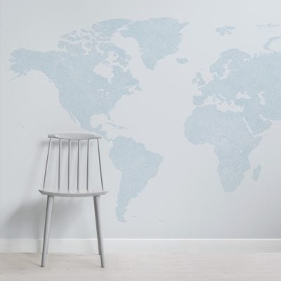 blue abstract vector world map wallpaper mural