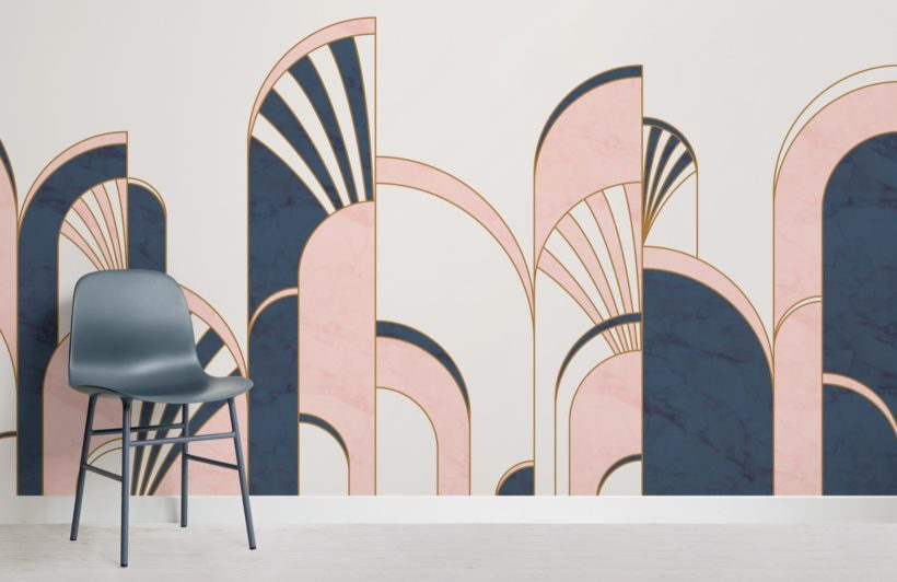 blue-and-pink-art-deco-print-arches-wallpaper-mural