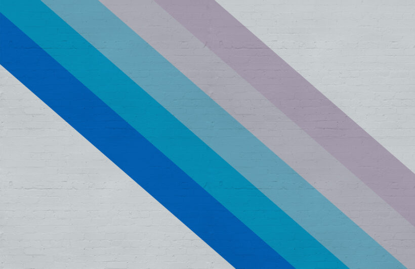 blue-and-pink-bold-stripe-brick-effect-wallpaper-mural-Plain