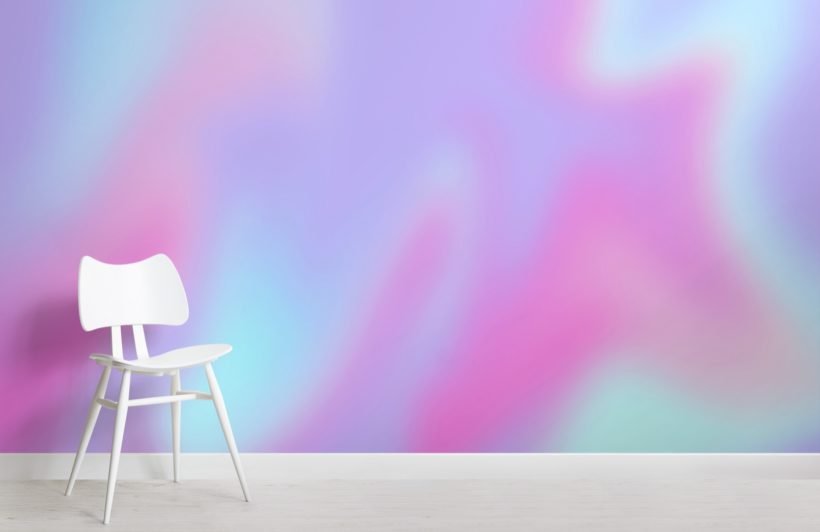blue and pink bright gradient wallpaper mural