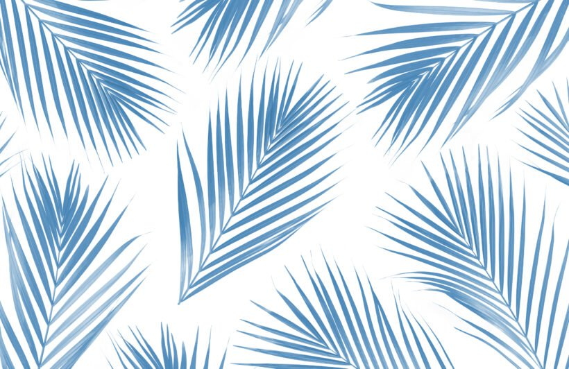 blue-and-white-palm-leaf-tropical-wallpaper-mural
