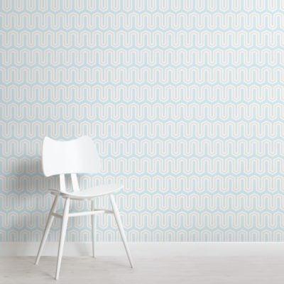 blue-geometric-line-pattern-wallpaper-mural