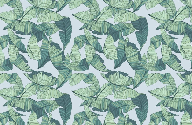 blue-green-tropical-leaf-design-plain-wall-murals